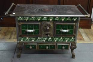 Majolica Style Tile French Cooking Stove