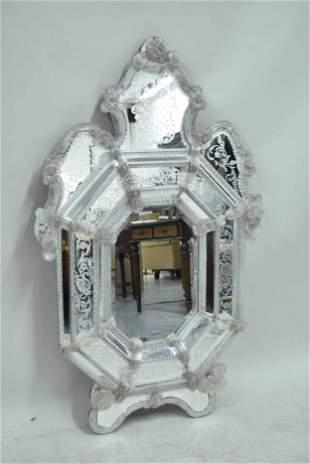 Large Venetian Glass Hanging Wall Mirror