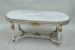 Louis XVI Style Oval Low Table