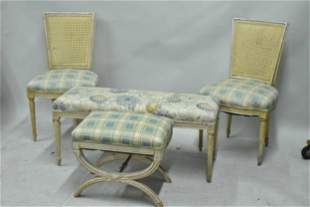 Louis XVI Style White Painted Seating Suite