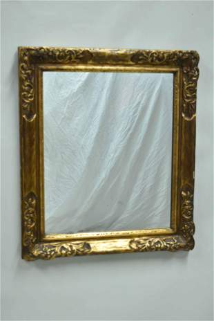 Ornate Gilt Wood Carved Hanging Wall Mirror