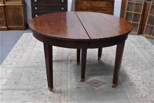 Hepplewhite Style Mahogany Inlaid Dining Table