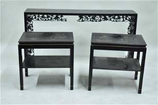 Black Painted Asian Style Console Table