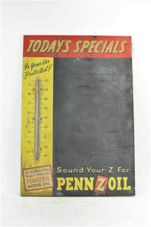 Vintage Pennzoil Metal Advertising Sign