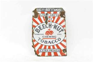 Vintage Beech Nut Chewing Tobacco  Sign