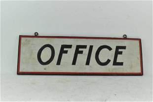 Vintage Wooden OFFICE Sign