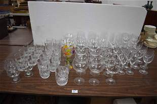 Large Group of Assorted Crystal & Glass Stemware