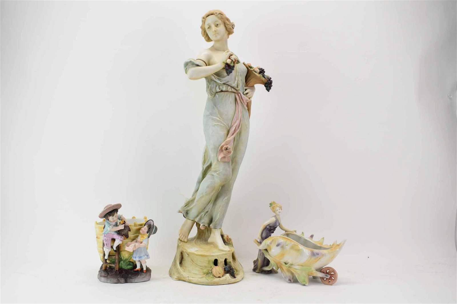 Austrian woman figural candy container
