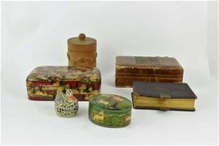 3 Kashmir Lacquer Trinket Boxes