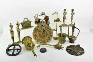 Group of Assorted Brass Table Articles