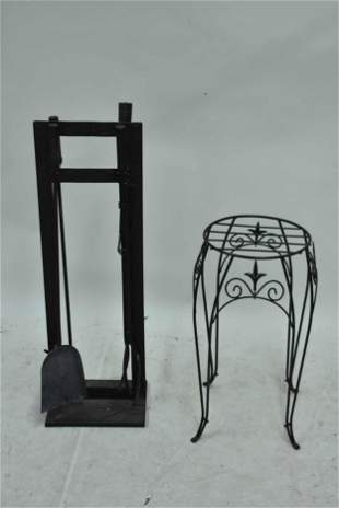 Set of Black Painted Fire Tools