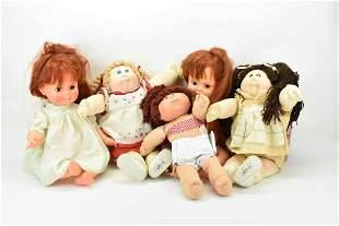 Group of 5 Assorted Vintage Dolls