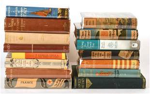 Group of Books Related to Travel