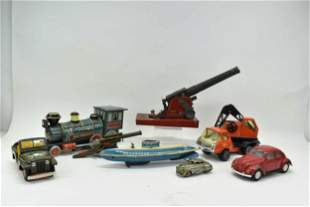 Group of Assorted Vintage Metal Toys