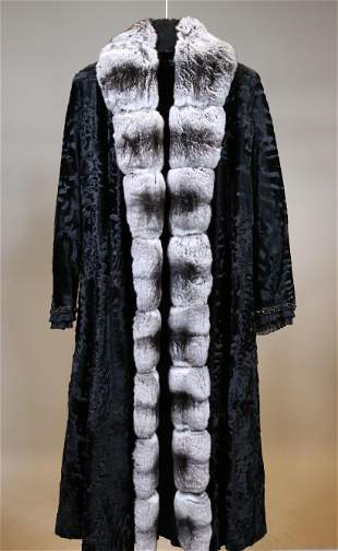 Guiliana Teso Lambs Wool and Chinchilla Coat