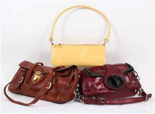 Three Prada Ladies Leather Handbags