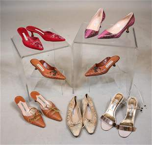 Six Pairs of Manolo Blahnik Shoes