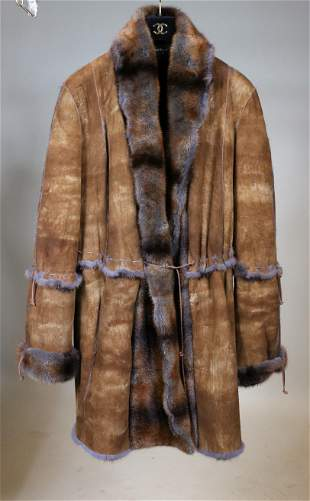Giuliana Teso Suede Mink Fur Lined Jacket