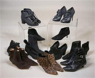 Ten Pairs of Ladies Designer Ankle Boots