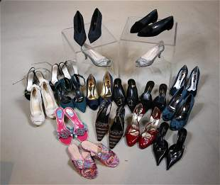 Seventeen Pairs of Ladies Dress Shoes