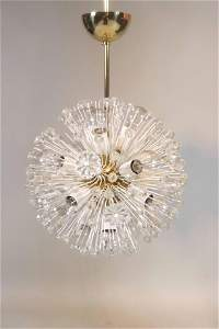 Emil Stejnar Glass and Brass Sputnik Chandelier