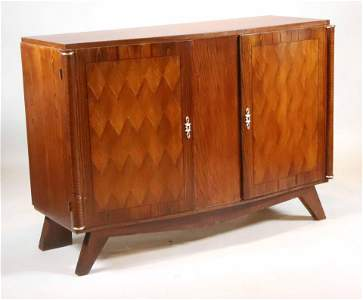 Art Deco Brass-Mounted Walnut Server