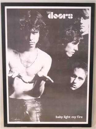 "Poster, Doors,  ""Baby Light My Fire"""
