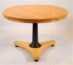 Contemporary Part-Ebonized Maple Center Table