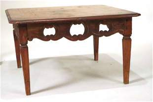Carved and Pierced Oak Low Table