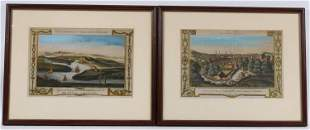 Two Colored Engravings of Scottish Cities