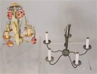 Two Hanging Light Fixtures