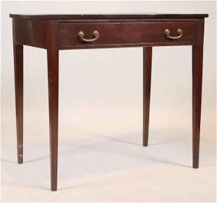 George III Style Leather-Inset Mahogany Table