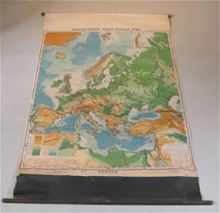 Wall Map of Europe, R. Baxter Blair