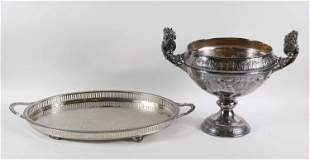 Simpson H.M & Co. Silver Plate Footed Center Bowl