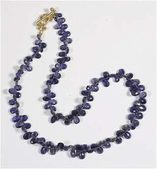 Briolette-Cut Iolite Strand Necklace