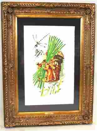 Lithograph, Jesus, After Salvador Dali