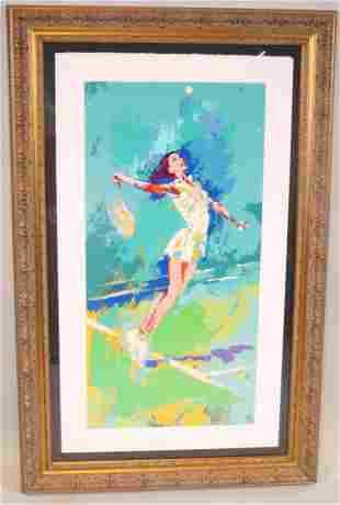LeRoy Neiman, Lithograph, Female Tennis Player