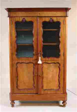Provincial Grill-Inset Fruitwood Armoire