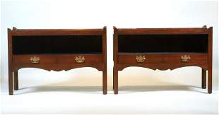 Pair of George III Style Mahogany Side Tables