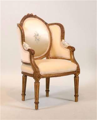 Louis XVI Style Giltwood Child's Bergere