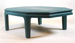Green Painted Karl Springer Coffee Table