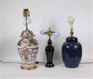 Imari Pattern Porcelain Ginger Jar Table Lamp