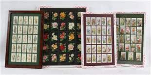 Four Framed Sets of Cigarette Cards
