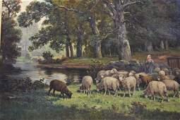 James Desvarreax Larpenteur Oil on Canvas