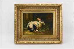 Oil on Canvas of Rabbit