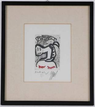 Appel & Alechinsky, Lithograph, Abstract Figures