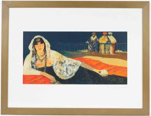 Salvatore Fiume, Lithograph, Reclining Woman