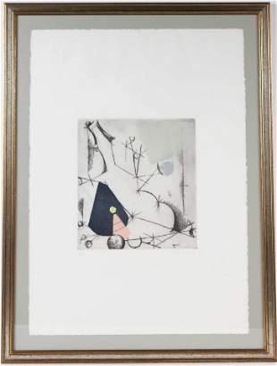 """Marino Marini, Etching & Aquatint, """"La Ribalta"""""""