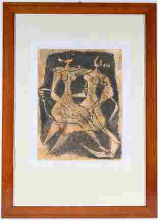 Luciano Minguzzi, Lithograph, Abstract Figures