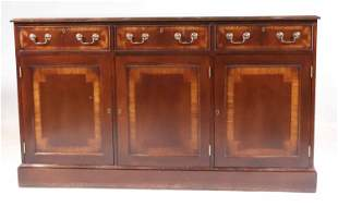 Trosby Furniture Inlaid Mahogany Side Cabinet